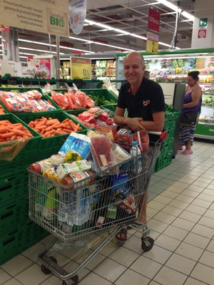 Jean-Michel at the supermarket